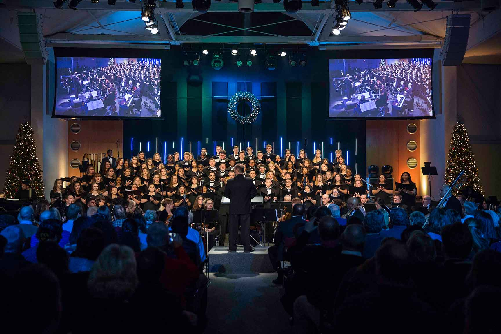 UVF Choir singing at Christmas at Valley Forge