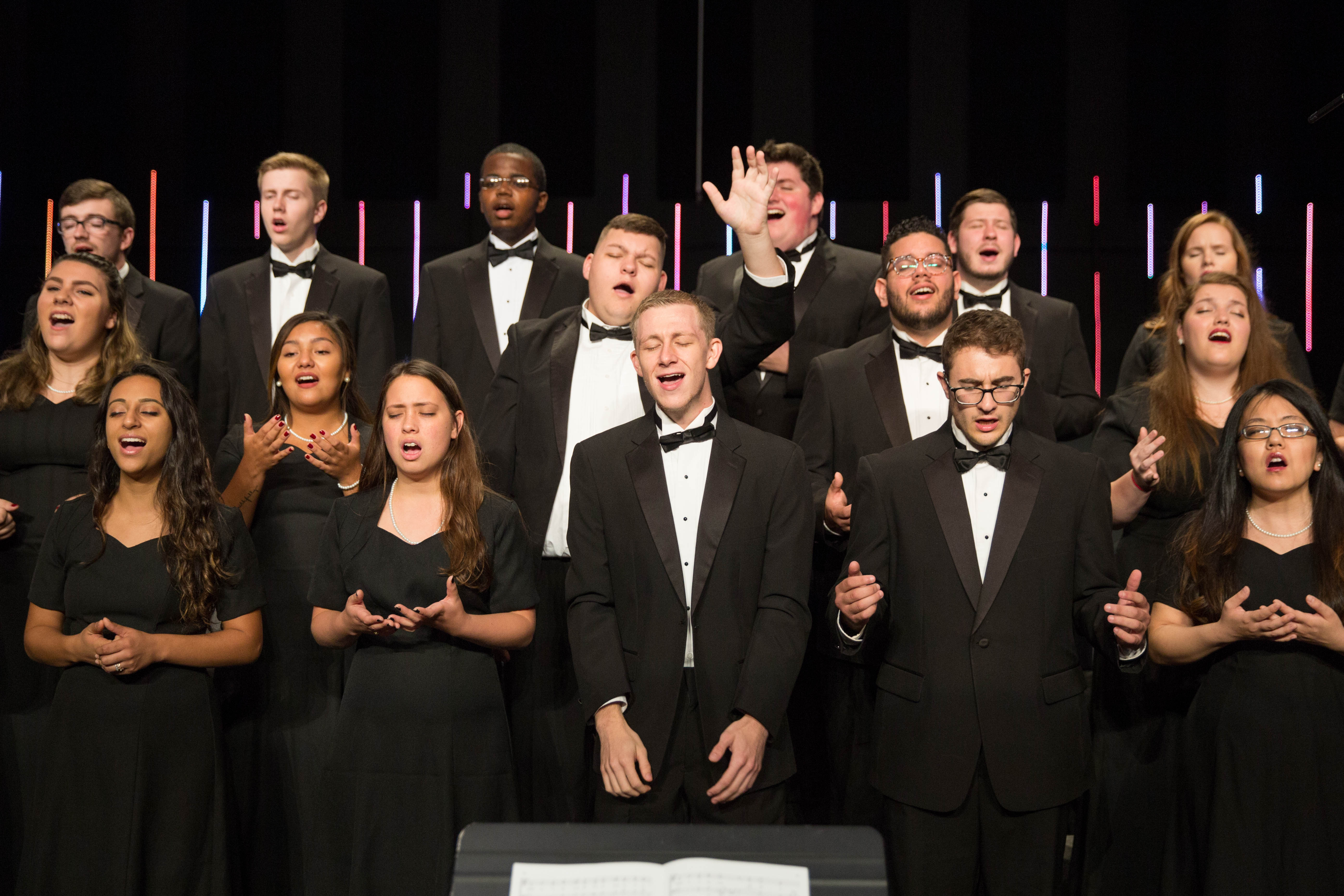 University Choir singing