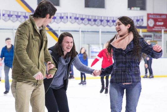 UVF Students Ice skating