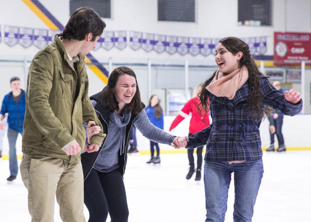 UVF Students Ice skating