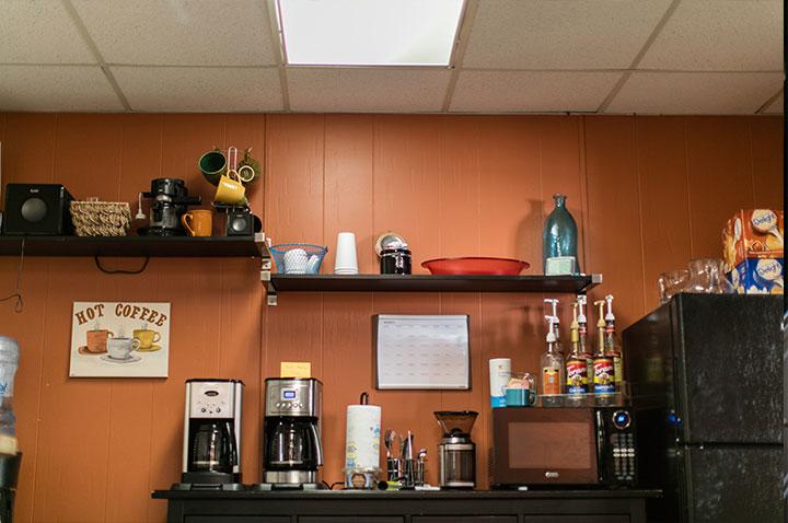 UVF Student Success Office coffee bar