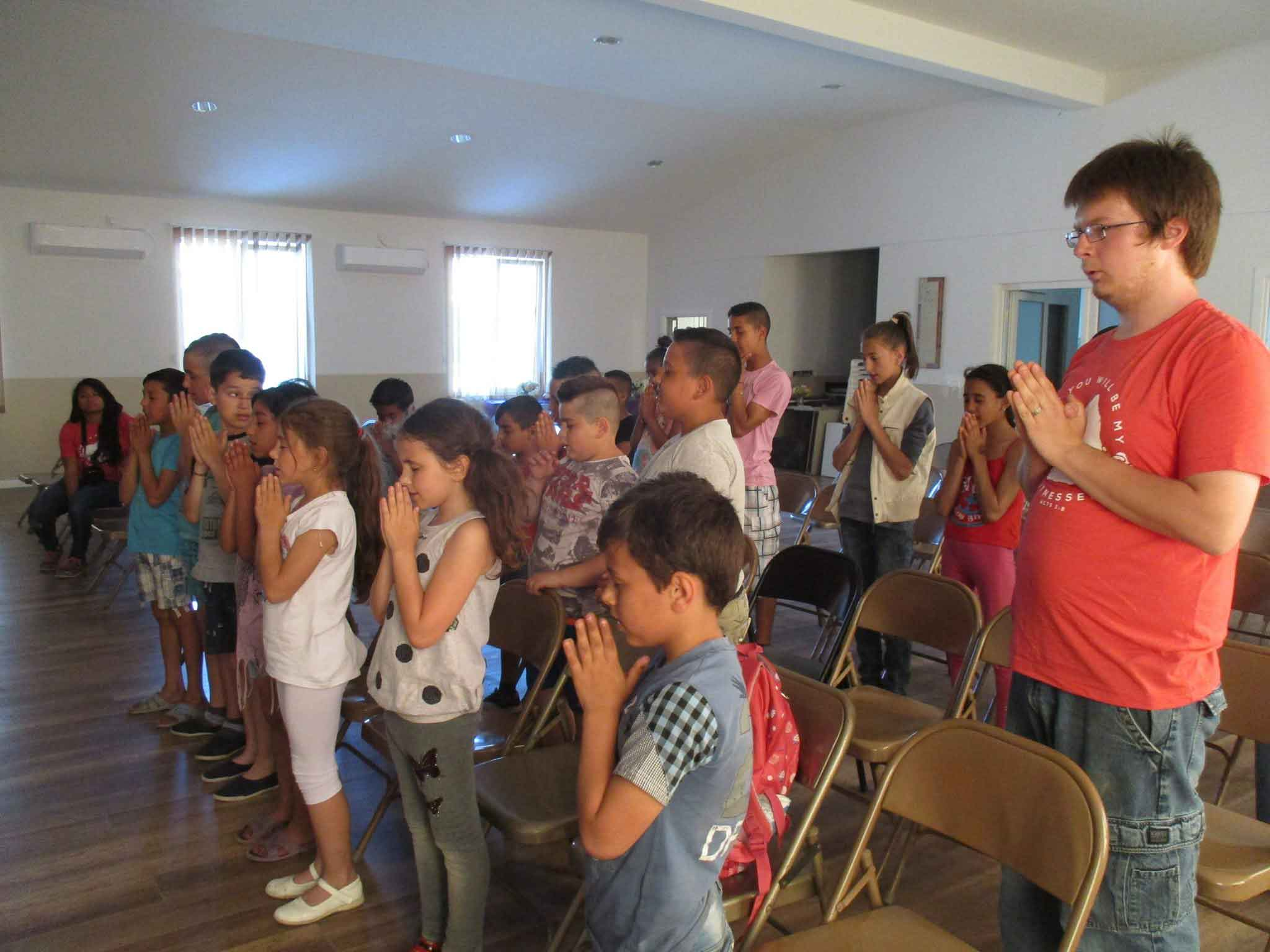 UVF Missions team working in children's ministry