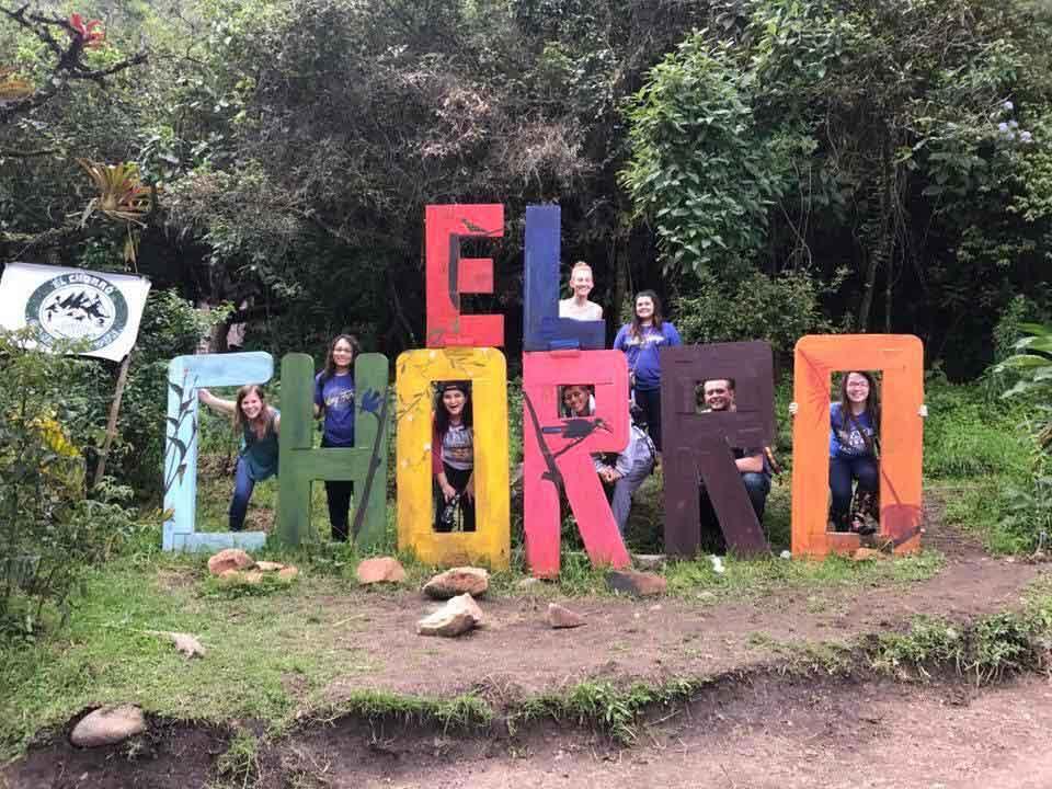 UVF Missions team at el chorro sign