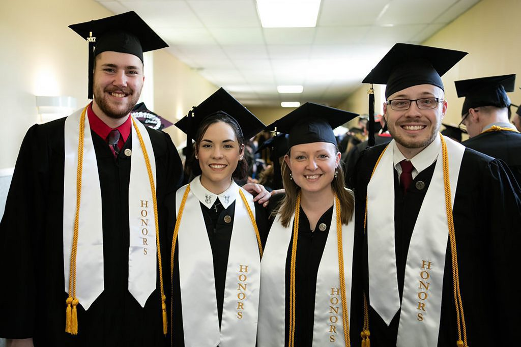 UVF Honors Students at graduation