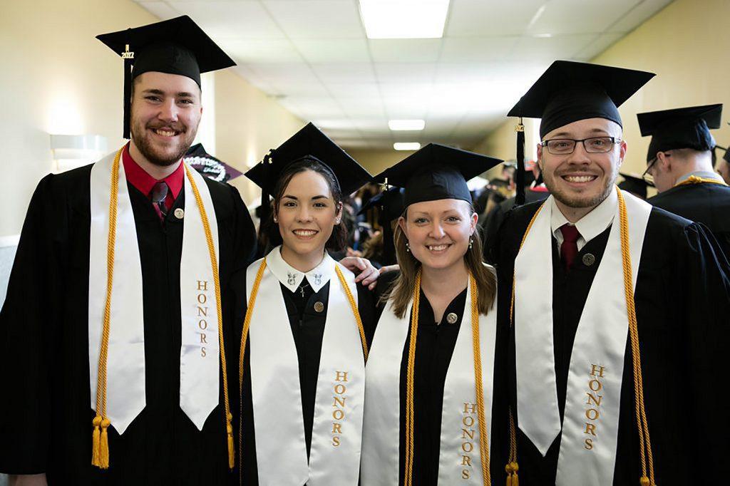 UVF Honors Students at graduation