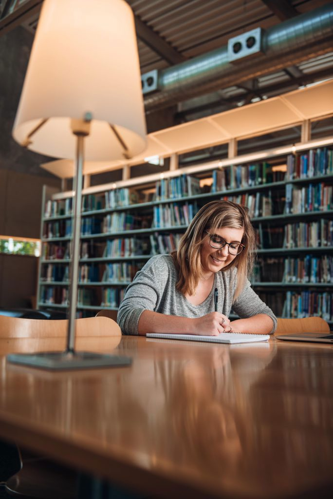 UVF student studying in SRC
