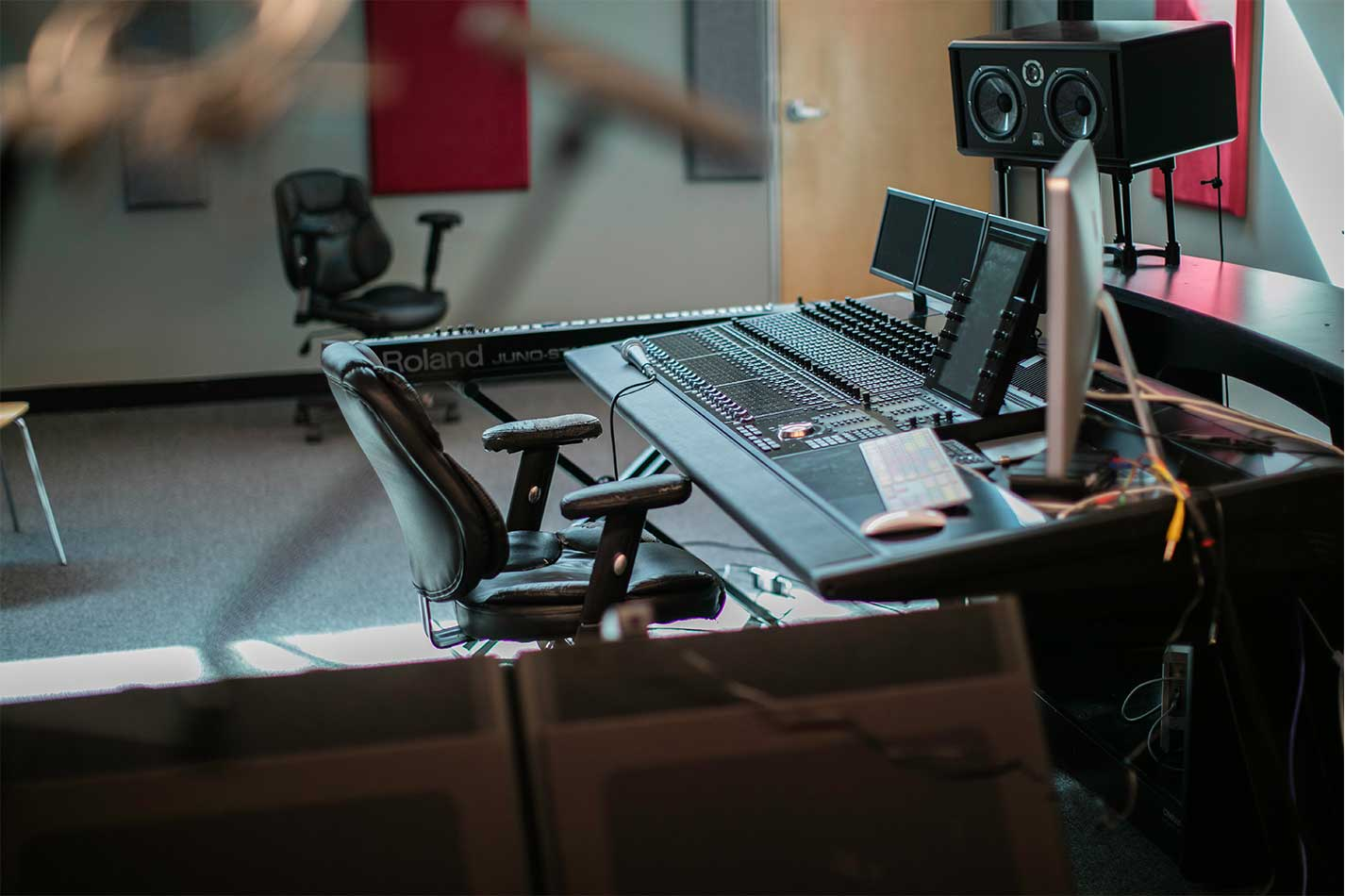 UVF sound board used for mixing