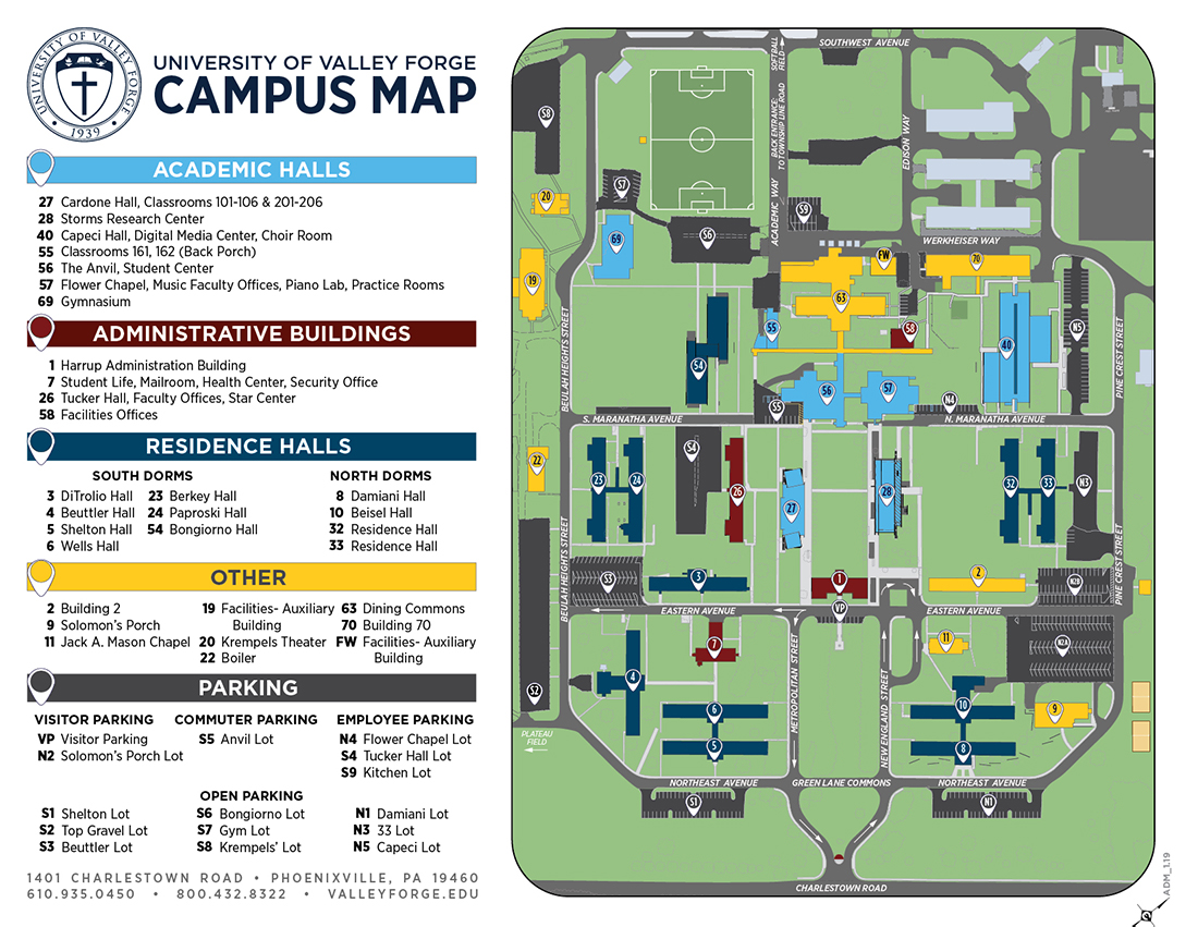 Map of UVF campus