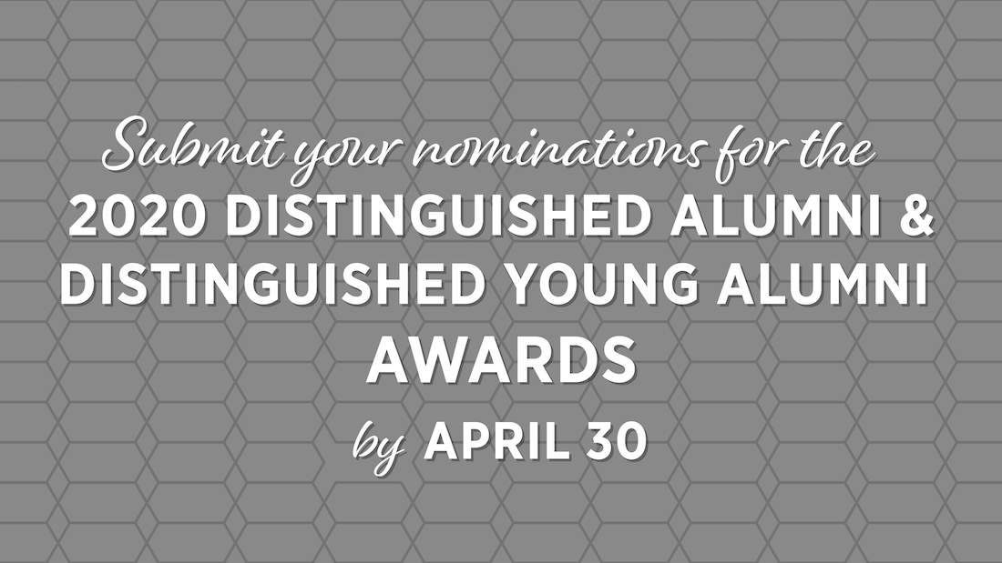 2020 distinguished alumni and young alumni nominations
